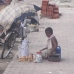 7yrs boy opareting street shop
